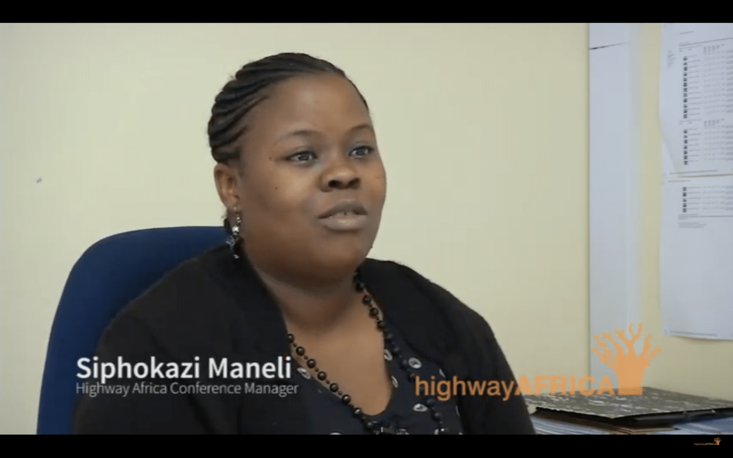 Interview with Siphokazi Maneli, Highway Africa Conference Manager